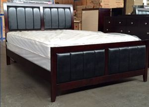 King antique bed with mattress (Free Delivery) for Sale in College Station, TX