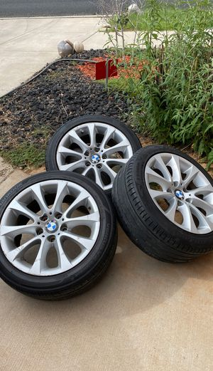 4 BMW Rims with good tires 225/45R/17 for Sale in Santa Fe, NM