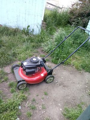 Black and decker blower/mulcher with bag, weed wacker and chainsaw all 3 electric. Gas Lawn mower 2 years old used few times for Sale in Tacoma, WA