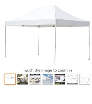 ABBA Patio 10 x 15 ft Outdoor Heavy Duty Pop Up Portable Instant Canopy Event Commercial Folding Canopy, White for Sale in Graceville, FL