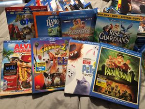 8 Blu-Ray + DVD Kids movies for Sale in Covina, CA