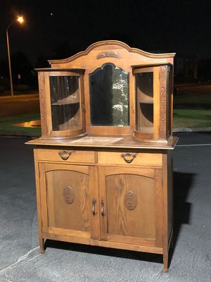 Beautiful Vintage Cabinet with Hutch for Sale in Ontario, CA