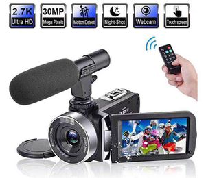 """Video Camera Camcorder with Microphone 2.7K 30FPS 30MP Vlogging Camera with Rotatable 3.0"""" Touch Screen for Sale in Queens, NY"""