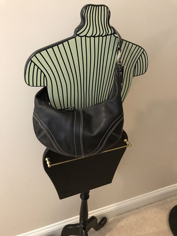 Authentic Leather Coach Hobo Bag