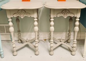 Pair of antique Jacobean end tables for Sale in Bethesda, MD