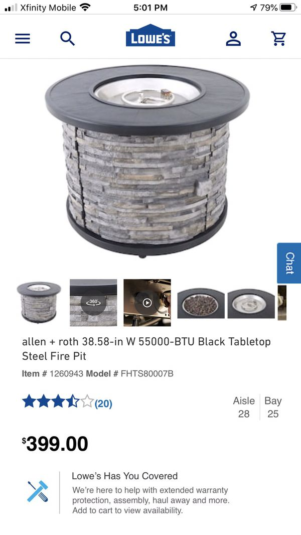 Gas Fire Pit By Alan Roth Price Reduced To Sell For Sale