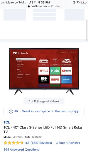 Brand new tcl 40 in roku tv for Sale in Silver Spring, MD
