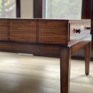Custom Designer Coffee Table With Wood Inlay Detail for Sale in Los Angeles, CA
