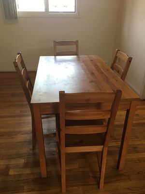 5-Piece Kitchen Dining Set, Solid Wooden Kitchen Table and 4 Chairs for Sale in Royal Oak, MI