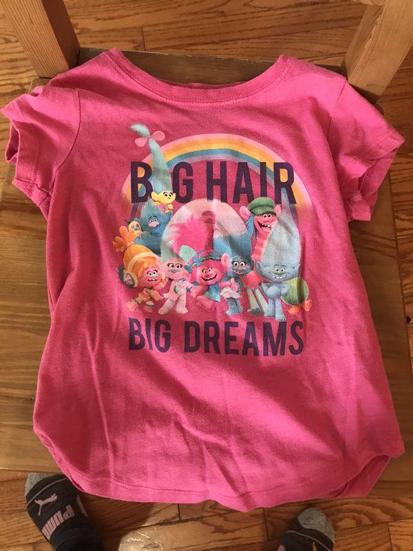 size 6 girl trolls T-shirt