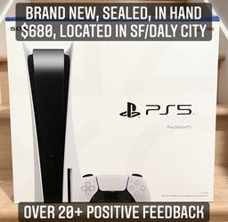 Playstation 5 PS5 Disc standard Brand New In Hand for Sale in South San Francisco,  CA