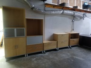 File Cabinets, bookcases, bookshelves all for $150 for Sale in Houston, TX