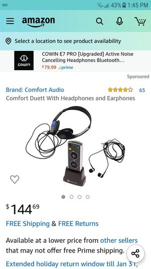 Comfort Duett W/earphones and Headphones for Sale in Cleveland, OH