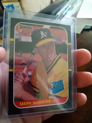 Mark Mcgwire 1987 Donruss Rated Rookie #46 Rookie Baseball Card for Sale in Tampa, FL