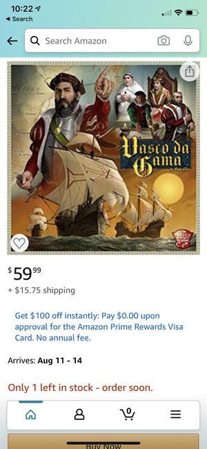 Vasco Da Gama board game for Sale in Tualatin, OR