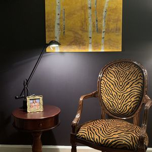Gorgeous Bengal Tiger Velvet Antique French Arm Chair for Sale in Annandale, VA