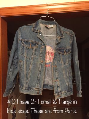 Planet Hollywood jean jackets from Paris for Sale in Wichita, KS