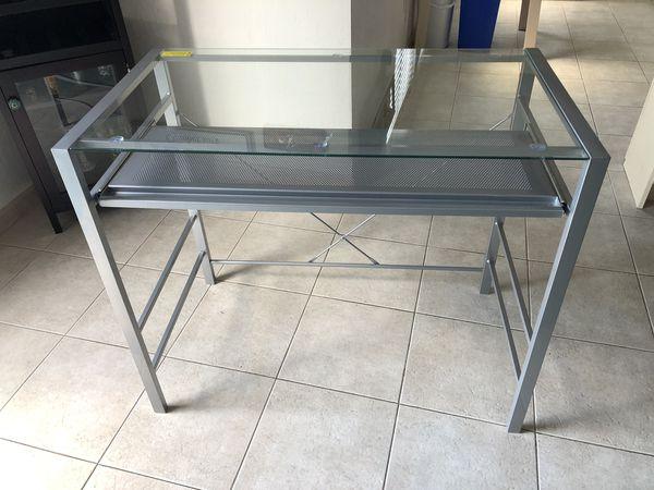 Small Glass Top Desk
