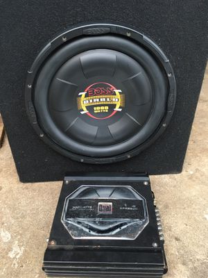 Car sub and amp for Sale in Swampscott, MA