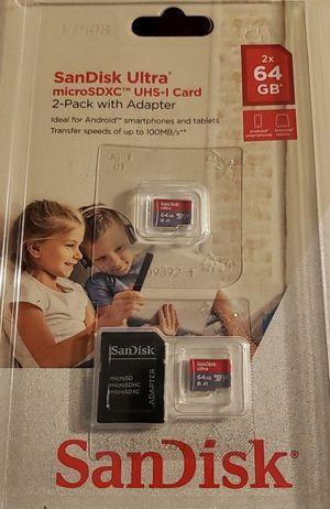 2x 64gb micro memory cards. $25 for Sale in Sacramento, CA