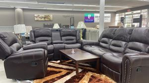 Caren Reclining Set Down payment $39 for Sale in Houston, TX