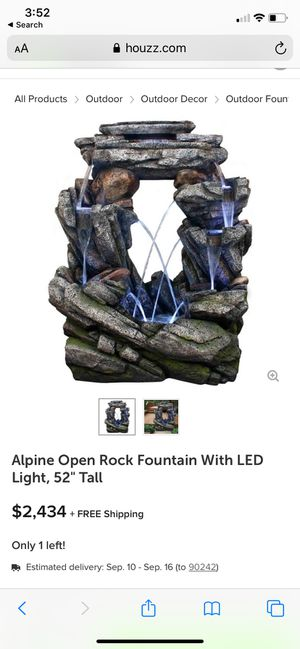 Cascading fountain with LED lights for Sale in Bell, CA