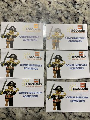 Lego land florida entry tickets for Sale in Nashville, TN