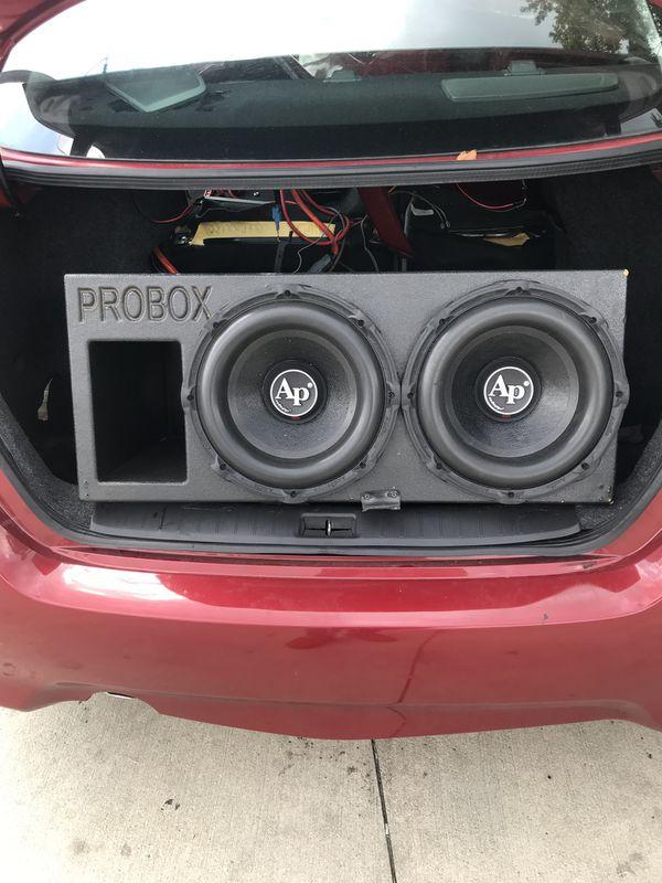 Pro box 12' audio pipe speakers