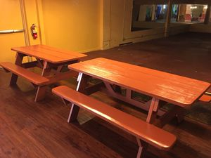 Heavy duty commercial 6 ft picnic tables for Sale in Lutz, FL