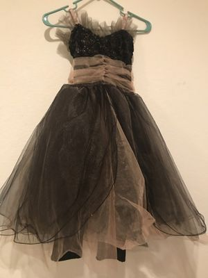 Girls black and gold Halloween dress child large for Sale in Austin, TX