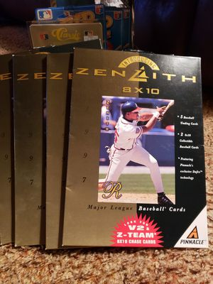 4 Collectors sets of 1997 zenith,pinnacke,MLB Baseball trading cards . for Sale in Elmwood Park, NJ
