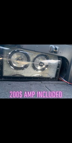 Dual 12 inch sub , amp included. More than welcome to meet up so you can hear it for Sale in MONTGOMRY VLG, MD