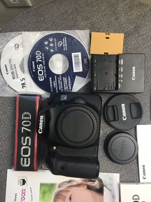 Canon EOS 70D - Black (Body Only) for Sale in Trenton, NJ