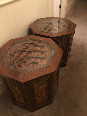 Antique Wood Carved End Tables for Sale in San Francisco, CA