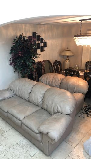 Leather sofa seat #Sofa #couch for Sale in Haines City, FL