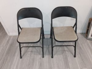 Vintage SAMSONITE folding metal chairs antique retro 1960s 1970s 1980s for Sale in Los Angeles, CA