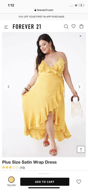 Forever 21 yellow wrap dress for Sale in Pasadena, TX