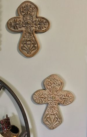 "2-Crosses Ornate and different 10"" h x 8"" w Wall Decor for Sale in Bayfield, CO"