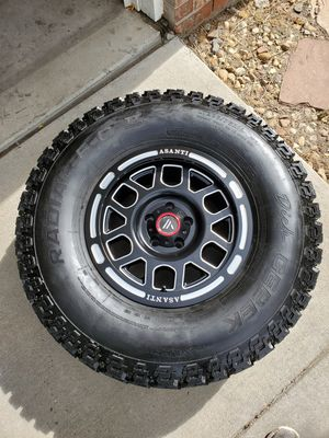 """New Asanti 16"""" 16X8 Rims 5X4.5 with 285/75R16 Dick Cepek F-C II BEEFY Tires! for Sale in Westminster, CO"""