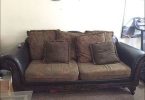 Sofa and love seat with coffee tables and end tables for Sale in Philadelphia, PA