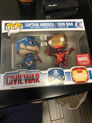 Civil war iron man captain America funko pop for Sale in Winter Park, FL