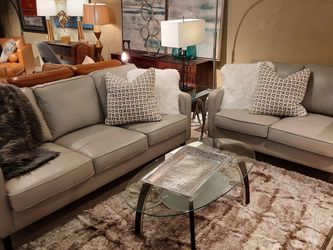 Genuine Leather Sofa And Loveseat (Modern Home Furniture ) for Sale in undefined