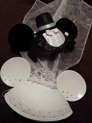 His and Hers Wedding Disney Ears for Sale in Santa Ana, CA