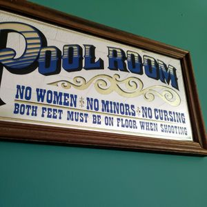 Vintage Pool Room Mirror- Man Cave Billiards for Sale in Leopold, IN