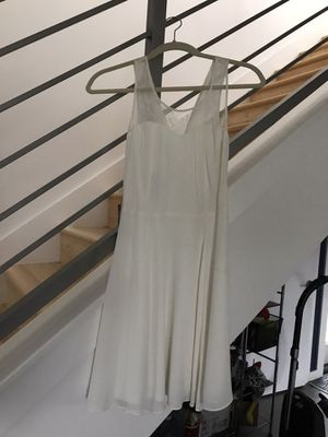 Express White Sheer Lacy Neckline Short Dress (Size 2) - new w. tags for Sale in Austin, TX