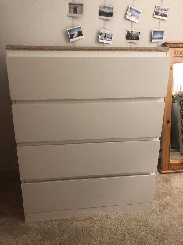 White IKEA dresser
