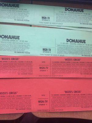 Bozo Tickets for Sale in Glenview, IL