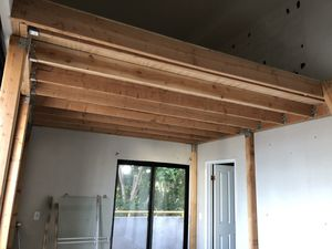 Loft lumber set. Apron 10 ft x 12 ft. All lumber, brackets and ladder. Plywood floor is furniture grade plywood. $350 obo for Sale in Santa Monica, CA
