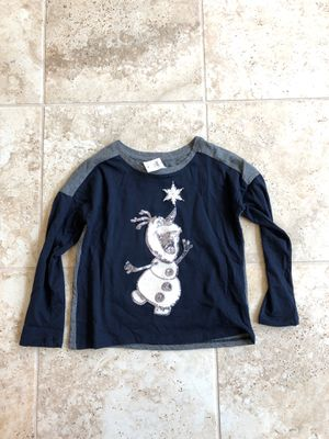Baby gap/ gap kids FROZEN Olaf shirt size 4/5 for Sale in Irvine, CA