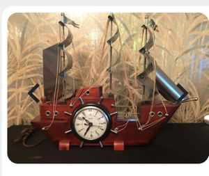 Electric wooded ship clock for Sale in Silver Spring, MD